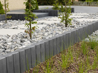 Beton afboording tuin